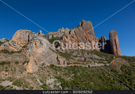 Mallos of Riglos, Riglos, Huesca, Spain stock photo, Mallos of Riglos, Riglos, Huesca, Spain by B.F.