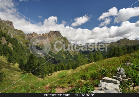 High Mountain landscape stock photo, High Mountain landscape in the Alps, Alpe Devero, Italy by Roberto Marinello