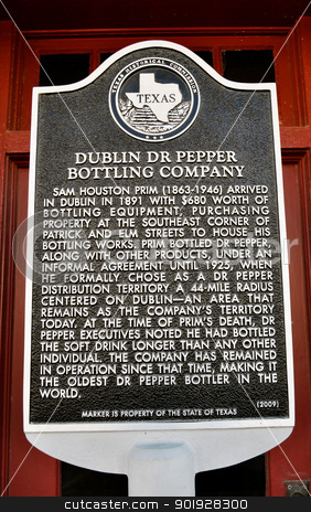 Sign Dublin Dr Pepper stock photo, Sign Dublin Dr Pepper by Liane Harrold