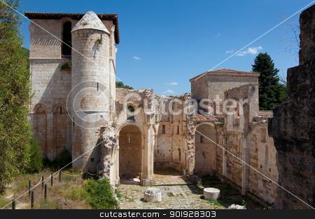Monastery of San Pedro de Arlanza, Covarrubias, Burgos, Spain stock photo, Monastery of San Pedro de Arlanza, Covarrubias, Burgos, Spa by B.F.
