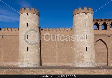 Aljaferia palace, Zaragoza, Aragon, Spain stock photo, Aljaferia palace, Zaragoza, Aragon, Spain by B.F.
