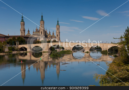 The Pilar, Zaragoza, Aragon, Spain stock photo, The Pilar, Zaragoza, Aragon, Spain by B.F.
