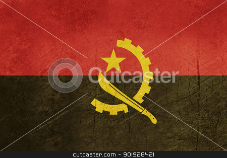 Grunge Angola Flag stock photo, Grunge sovereign state flag of country of Angola iin official colors. by Martin Crowdy