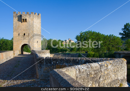 Roman bridge, Frias, Burgos, Castilla y Leon, Spain stock photo, Roman bridge, Frias, Burgos, Castilla y Leon, Spain by B.F.