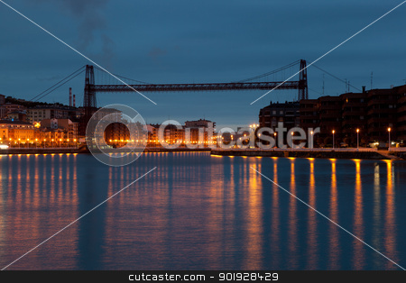 Pending bridge, Portugalete, Bizkaia, Spain stock photo, Pending bridge, Portugalete, Bizkaia, Spain by B.F.