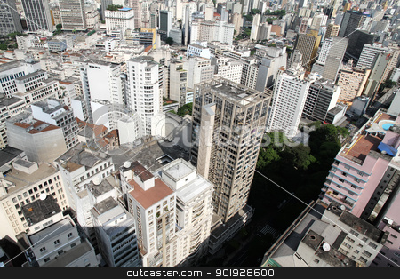 Skyline of Sao Paulo  stock photo, Skyline of Sao Paulo, Brazil, South America. by Michael Osterrieder