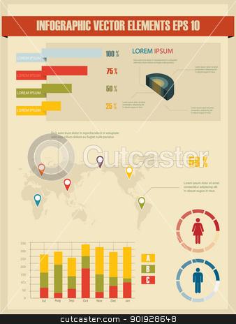 Detail infographic vector illustration. stock vector clipart, Detail infographic vector illustration. by Erdem