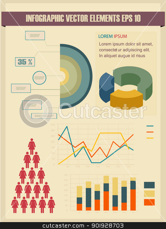 Detail infographic vector illustration. stock vector clipart, Detail infographic vector illustration. by Erdem