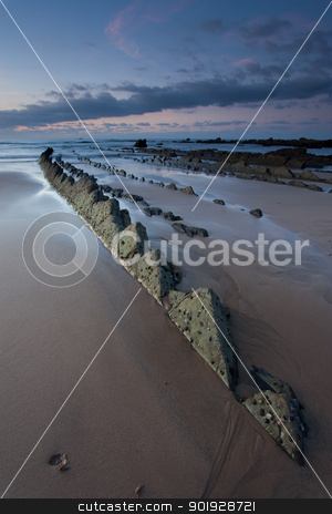 Beach of Barrika, Bizkaia, Basque Country, Spain stock photo, Beach of Barrika, Bizkaia, Basque Country, Spain by B.F.
