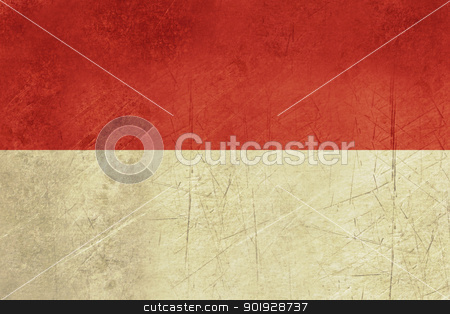 Grunge Indonesia Flag stock photo, Grunge sovereign state flag of country of Indonesia in official colors. by Martin Crowdy