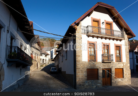 Street of Ezcaroz, Navarra, Spain stock photo, Street of Ezcaroz, Navarra, Spain by B.F.