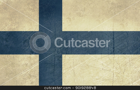 Grunge Finland Flag stock photo, Grunge sovereign state flag of country of Finland in official colors. by Martin Crowdy