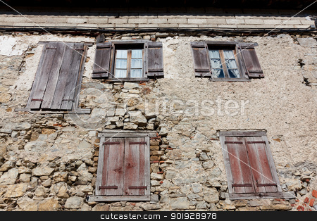 Facade in Orbaitzeta, Selva de Irati, Navarra, Spain stock photo, Facade in Orbaitzeta, Selva de Irati, Navarra, Spain by B.F.