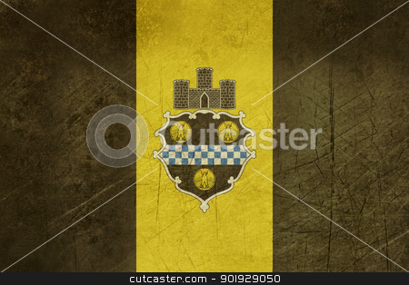Grunge City of Pittsburgh flag stock photo, Grunge flag of Pittsburgh city in the U.S.A by Martin Crowdy
