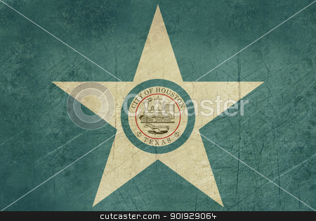 Grunge Houston city flag stock photo, Grunge flag of Houston city in the U.S.A by Martin Crowdy