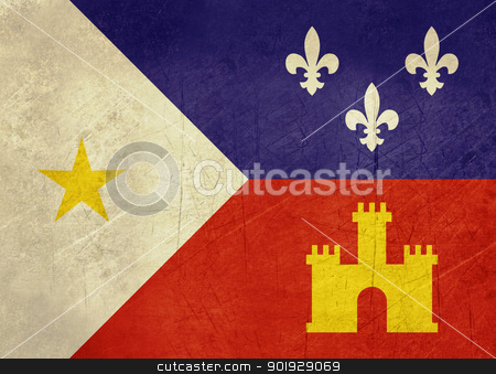 Grunge Acadiana flag stock photo, Grunge flag of Acadiana city in the U.S.A  by Martin Crowdy