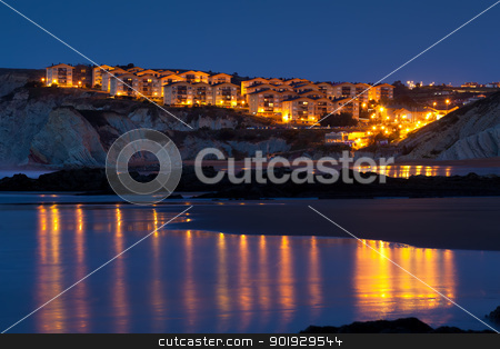 Nightfall in Sopelana, Bizkaia, Spain stock photo, Nightfall in Sopelana, Bizkaia, Spain by B.F.