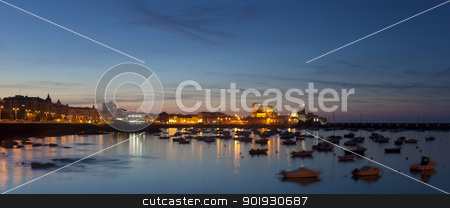 Panoramic of Castro Urdiales, Cantabria, Spain stock photo, Panoramic of Castro Urdiales, Cantabria, Spain by B.F.