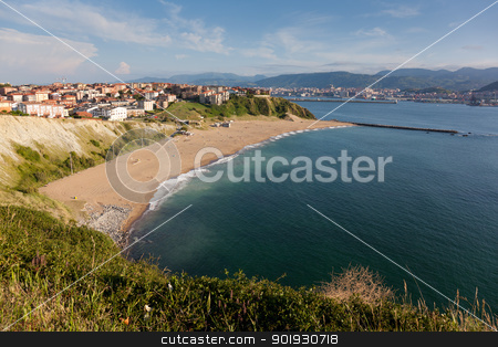 Beach of Arrigunaga, Getxo, Spain stock photo, Beach of Arrigunaga, Getxo, Spain by B.F.