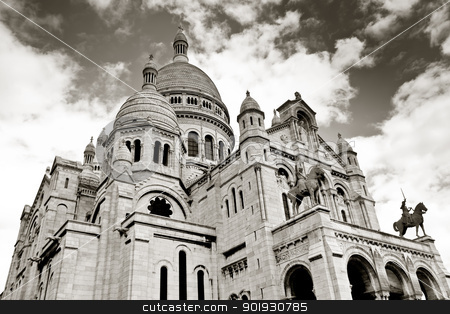 Sacre coeur, Montmartre, Paris, France stock photo, Sacre coeur, Montmartre, Paris, France by B.F.