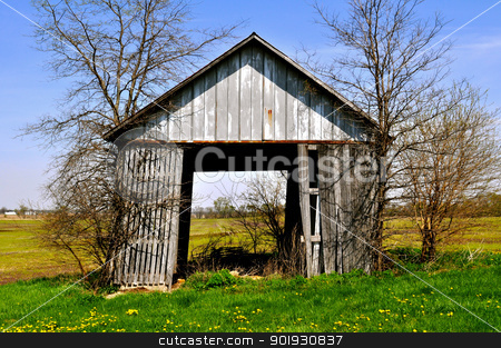 Barn tipping stock photo, Barn tipping by Liane Harrold