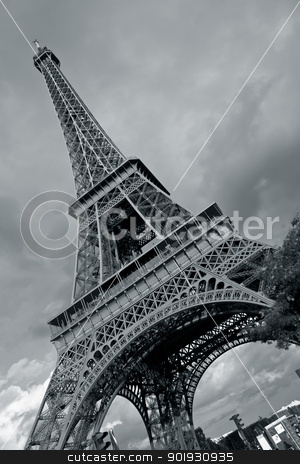 Eiffel tower, Paris, France stock photo, Eiffel tower, Paris, France by B.F.