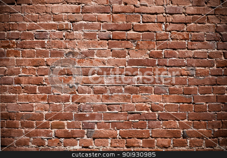 Brick wall texture stock photo, Background of red old brick wall texture by georgenightingale