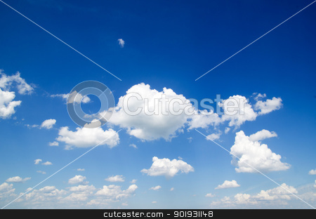 clouds     stock photo, blue sky background with a tiny clouds     by Vitaliy Pakhnyushchyy