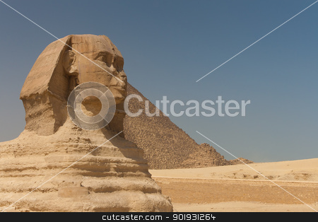 Great sphinx of Guiza,  Cairo, Egypt stock photo, Great sphinx of Guiza,  Cairo, Egypt by B.F.