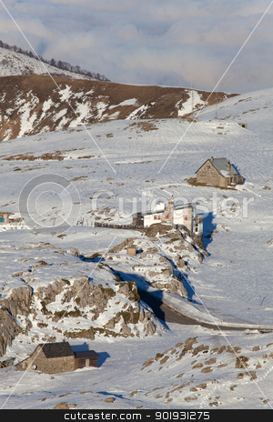 Refuges in the mountain, Larra-Belagua, Navarra, Spain stock photo, Refuges in the mountain, Larra-Belagua, Navarra, Spain by B.F.