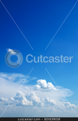  sky background stock photo, blue sky background with a tiny clouds     by Vitaliy Pakhnyushchyy