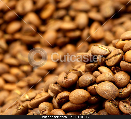 coffee beans stock photo, Close up of the aromatic coffe beans by Vitaliy Pakhnyushchyy