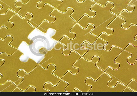 gold puzzle  stock photo, gold puzzle for background ! by Vitaliy Pakhnyushchyy