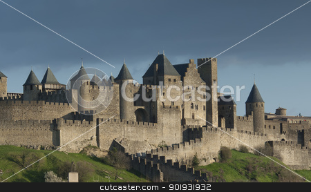 Carcassonne, Languedoc Roussillon, France stock photo, Carcassonne, Languedoc Roussillon, France by B.F.