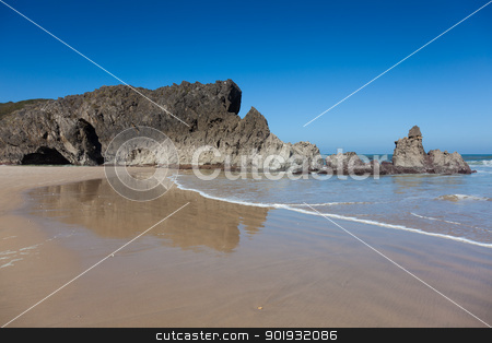 Beach of San Antolin, Llanes, Asturias, Spain stock photo, Beach of San Antolin, Llanes, Asturias, Spain by B.F.