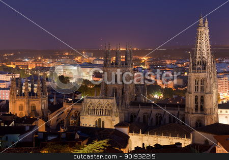 Cathedral of Burgos tonight, Burgos, Castilla y Leon, Spain stock photo, Cathedral of Burgos tonight, Burgos, Castilla y Leon, Spain by B.F.