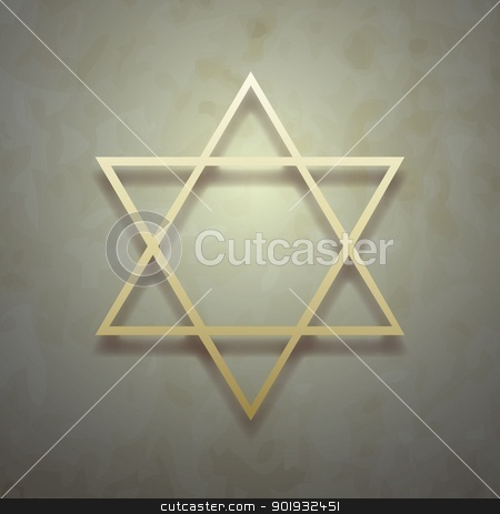 David's star stock vector clipart, David's star vector on vintage background by Mikhail Puhachou
