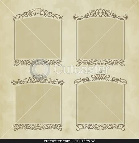 Vintage frames stock vector clipart, Vector set vintage frames by Mikhail Puhachou