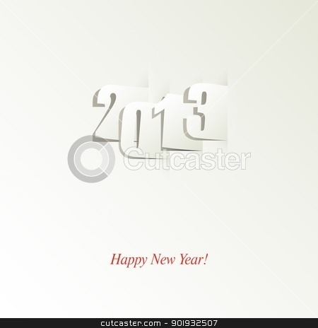 Happy New Year! stock vector clipart, Happy New Year design card vector by Mikhail Puhachou