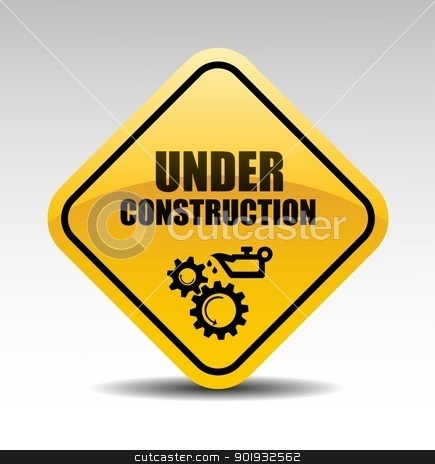 Under construction stock vector clipart, Under construction abstract vector illustration by Mikhail Puhachou