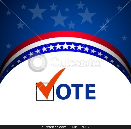 Vote stock vector clipart, Voting Symbols vector by Mikhail Puhachou