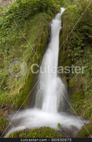 Waterfall, Aguas Candidas, Burgos, Castilla y Leon, Spain stock photo, Waterfall, Aguas Candidas, Burgos, Castilla y Leon, Spain by B.F.