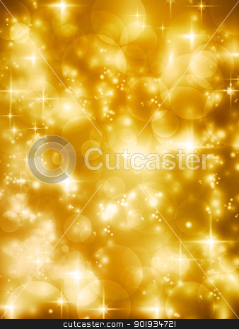 Festive golde bokeh lights vector background stock vector clipart, Abstract soft blurry background with bokeh lights, hightlights and stars in soft golden shades. The festive feeling makes it a great backdrop for many Christmas or other celebrations.  by Ina Wendrock