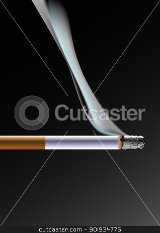 Cigarette stock vector clipart, No smoking for your health by Seyyah