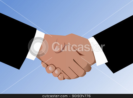 Agreement stock vector clipart, Agreement and handshake by Seyyah