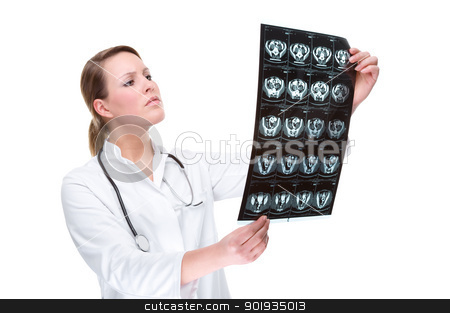 Doctor with x-ray stock photo, Mieke Wittmann. Stockshooting Uetersen by Picturehunter