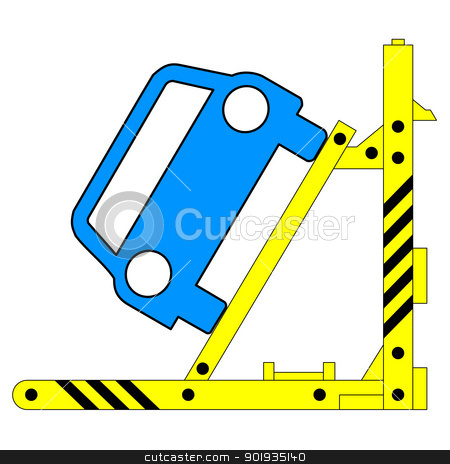 Device for lifting a car repair. Vector illustration. stock photo, Device for lifting a car repair. Vector illustration. by aarrows