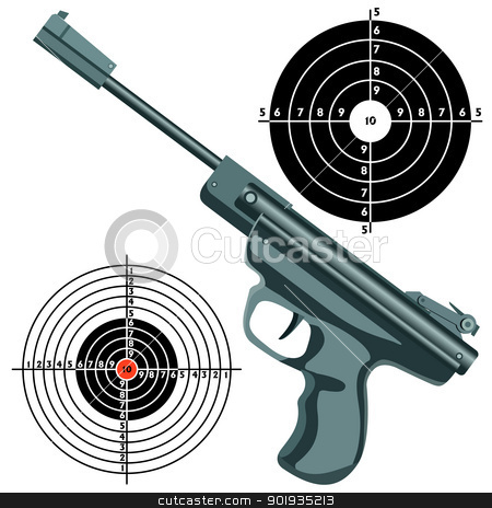 firearm, the gun against the target. vector stock photo, firearm, the gun against the target. vector by aarrows