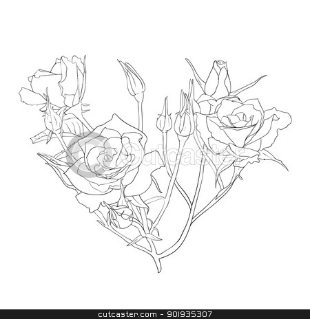 floral design element and hand-drawn , vector illustration stock photo, floral design element and hand-drawn , vector illustration by aarrows