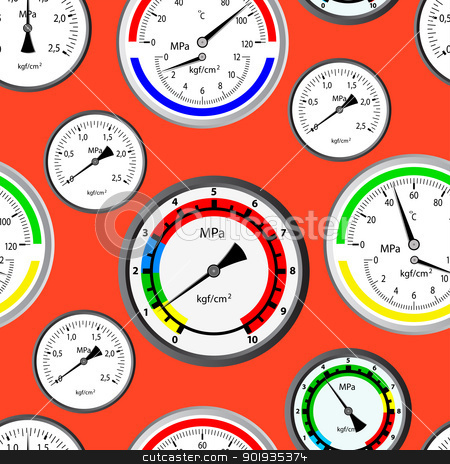 Seamless wallpaper the gas manometer  stock photo, Seamless wallpaper the gas manometer vector background by aarrows